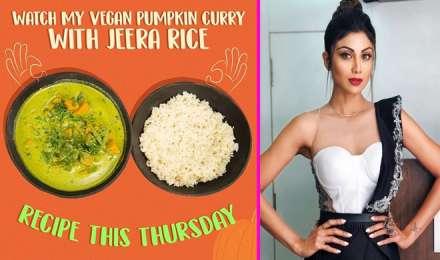 'कद्दू की सब्जी' का सुन बन जाता है मुंह, तो एक बार ट्राई करें शिल्पा की Vegan Pumpkin Curry & Rice recipe