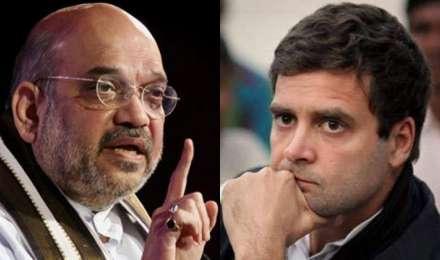 राहुल गांधी के आरोपों पर अमित शाह ने किया पलटवार, कहा- कांग्रेस चला रही फर्जी अभियान