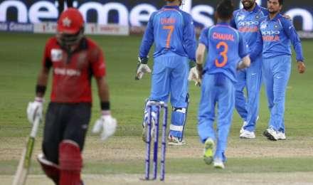 भारत की हांगकांग पर 26 रन की संघर्षपूर्ण जीत, धवन का सैकड़ा