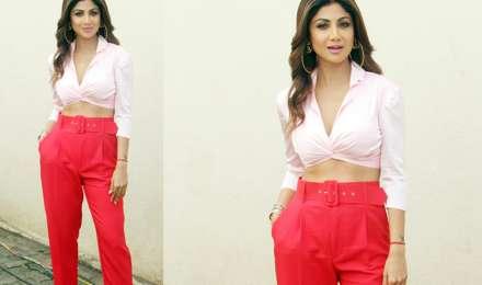 शिल्पा शेट्टी Killer लुक में आईं नजर, इस रेड पैंट की कीमत केवल 2790 रुपए