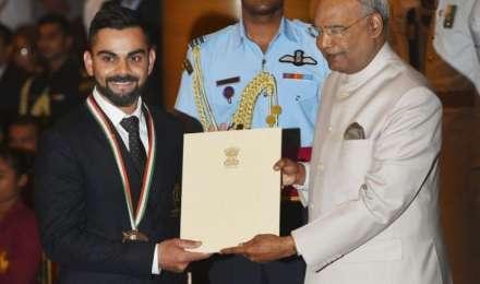 विराट कोहली और मीराबाई खेल रत्न से सम्मानित, नीरज को मिला अर्जुन अवॉर्ड