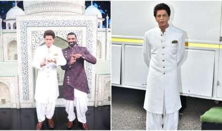 नवाबी अंदाज में रेमो डिसूजा के शो 'डांस प्लस 5' के सेट पर पहुंचे शाहरुख खान