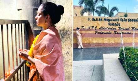 कंगना रनौत पहुंचीं रामेश्वरम, शिवभक्ति के बाद एपीजे अब्दुल कलाम को किया याद