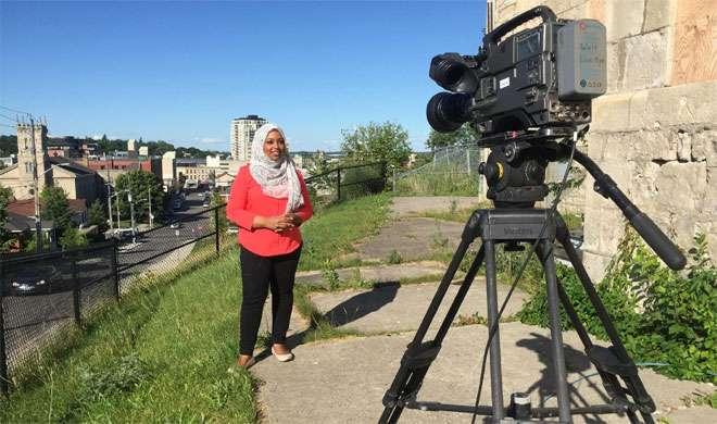 हिजाब पहनकर ऐंकरिंग करने वाली पहली कनाडाई बनीं जिनेला मासा - India TV