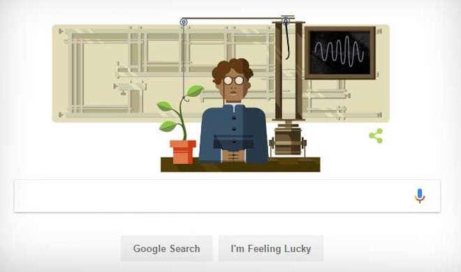 गूगल ने जगदीश चंद्र बसु के 158वें जन्मदिन पर उनकी याद में बनाया डूडल - India TV