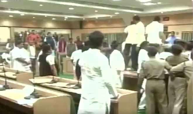 झारखंड विधानसभा में सदन की मर्यादा तार-तार, अध्यक्ष पर फेंका जूता