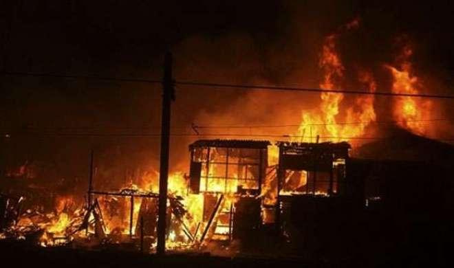 जम्मू की झुग्गियों में भीषण आग, 3 की मौत