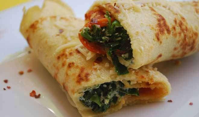 Recipe: ऐसे बनाएं टेस्टी चीज वाला पालक रोल - India TV