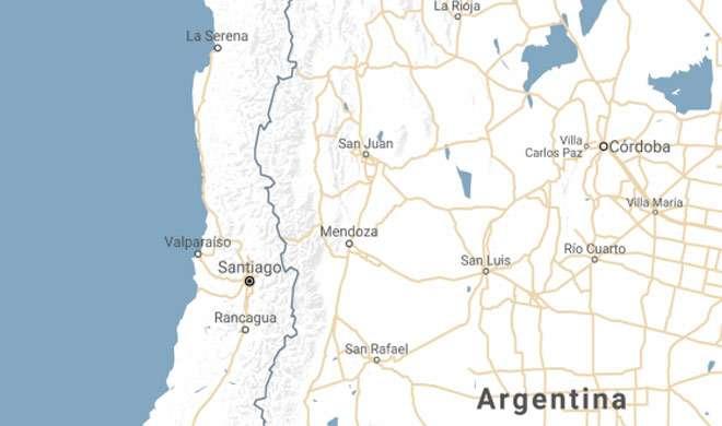 अर्जेंटीना और चिली के कुछ हिस्सों में 6.4 तीव्रता का भूकंप - India TV