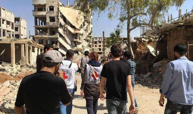 सीरिया में पहली बार पहुंचाई गई संयुक्त राष्ट्र की सहायता - India TV