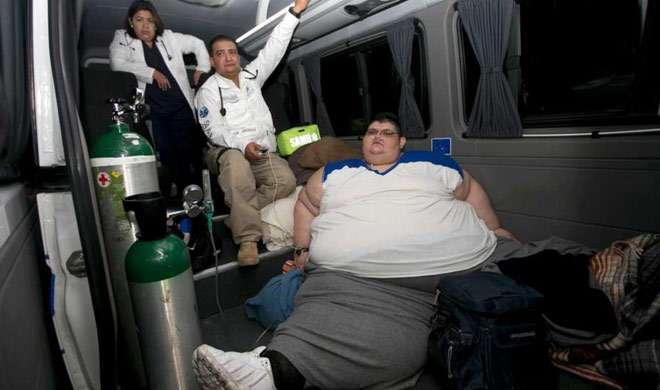 दुनिया के सबसे मोटे आदमी जुआन प्रेडो फ्रांको का इलाज शुरू - India TV