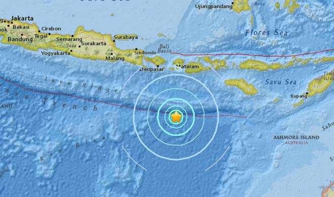 इंडोनेशिया में 6.2 तीव्रता के भूकंप के झटके