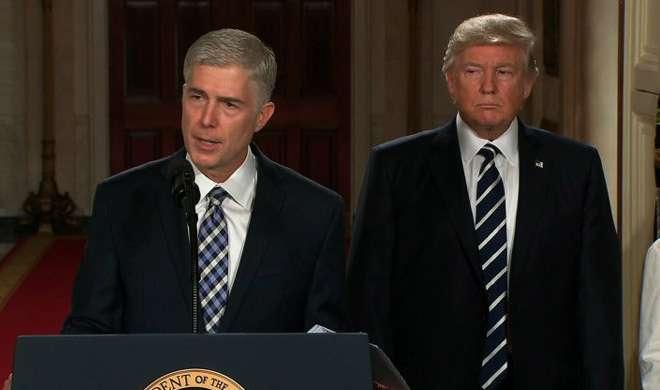 ट्रंप ने नील गोरसच को सुप्रीम कोर्ट के उम्मीदवार के रूप में नामित किया