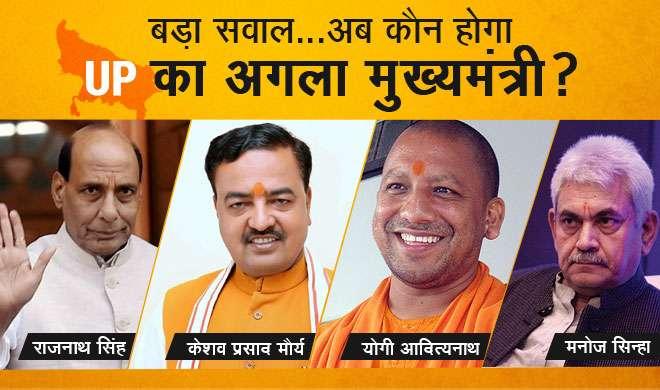 बीजेपी को प्रचंड बहुमत, बड़ा सवाल अब कौन होगा UP का अगला मुख्यमंत्री? - India TV