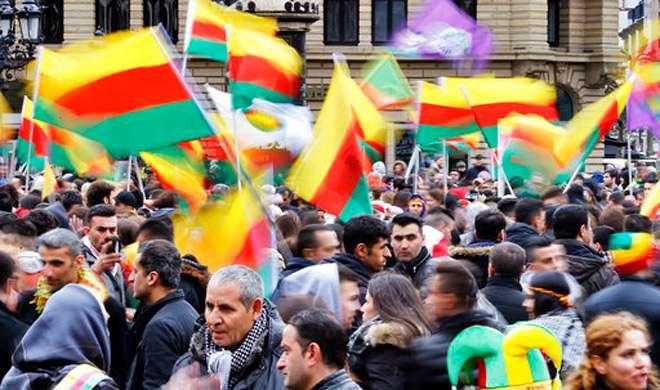 जर्मनी: 30,000 कुर्दो का तुर्की के राष्ट्रपति एर्दोगन के खिलाफ प्रदर्शन