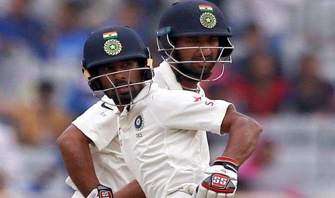 रांची टेस्ट, डे4, टी: पुजारा-साहा की रिकॉर्ड साझेदारी, भारत 503/6 - India TV