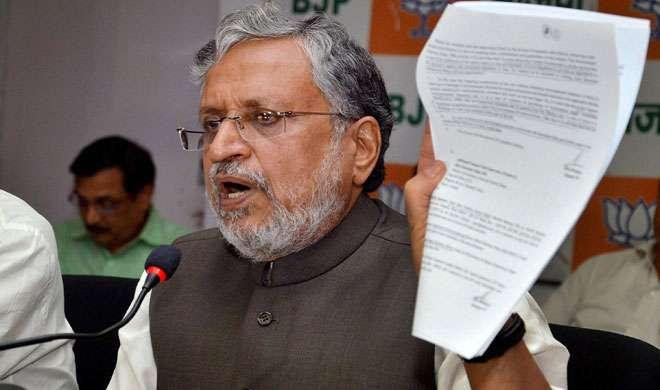 बिहार : सुशील मोदी ने राजद प्रवक्ताओं के खिलाफ बयान दर्ज कराया