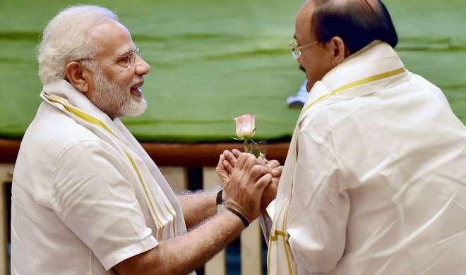 पीएम नरेंद्र मोदी ने वेंकैया नायडू को उपराष्ट्रपति चुनाव जीतने पर दी बधाई
