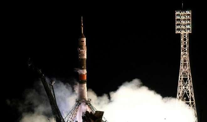 पांच महीने के अभियान पर अंतर्राष्ट्रीय अंतरिक्ष स्टेशन रवाना हुए तीन अंतरिक्ष यात्री