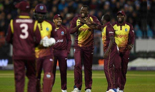 एकलौते टी 20 मैच में वेस्टइंडीज ने इंग्लैंड को 21 रन से रौंदा