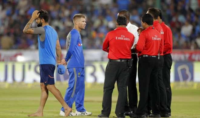 Ind vs Aus, 3rd T-20: मैदान गीला होने की वजह से तीसरा टी-20 मैच रद्द, सिरीज़ 1-1 से ड्रॉ