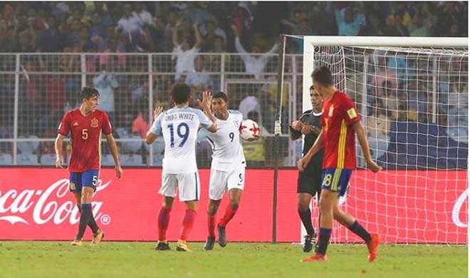 Image result for FIFA Under 17 World Cup: खिताबी मुकाबले में पिछड़ने के बाद स्पेन को 5-2 से हराया