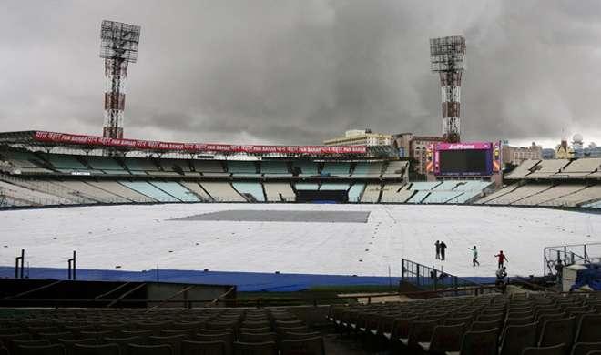कोलकाता टेस्ट: बारिश की वजह से टीम इंडिया का प्रैक्टिस सेशन हुआ रद्द