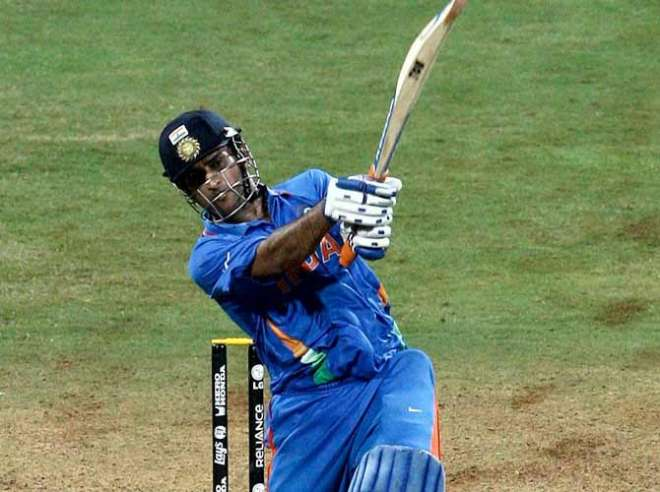 Image result for 2011 world cup final dhoni