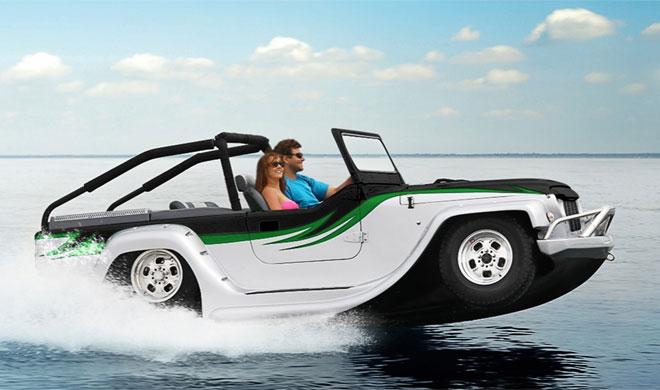 जमीन पर ही नहीं पानी पर भी दौड़ती है यह कार, नाम है 'पैंथर'...