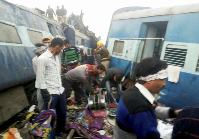 train acident near kanpur