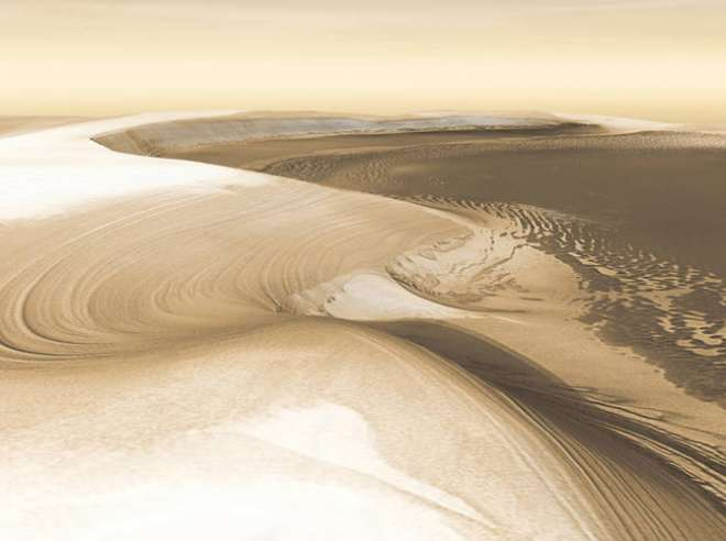 Chasma Boreale and North Polar Ice Cap of Mars