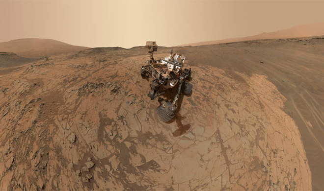 Curiosity Self-Portrait at 'Mojave' Site on Mount