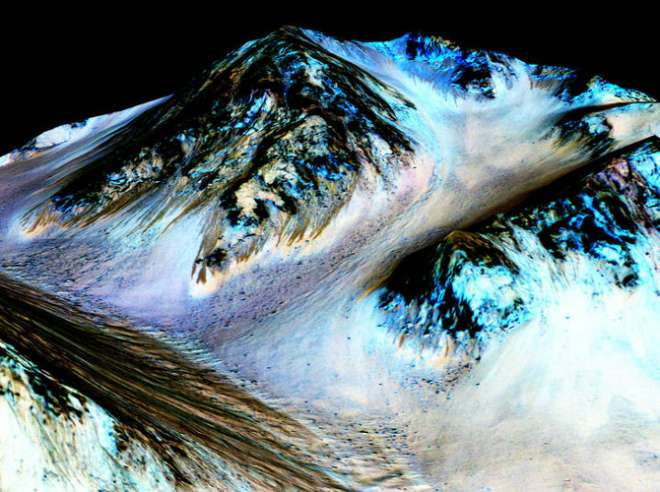 Recurring 'Lineae' on Slopes at Hale Crater, Mars
