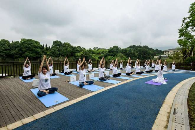 yoga day in china