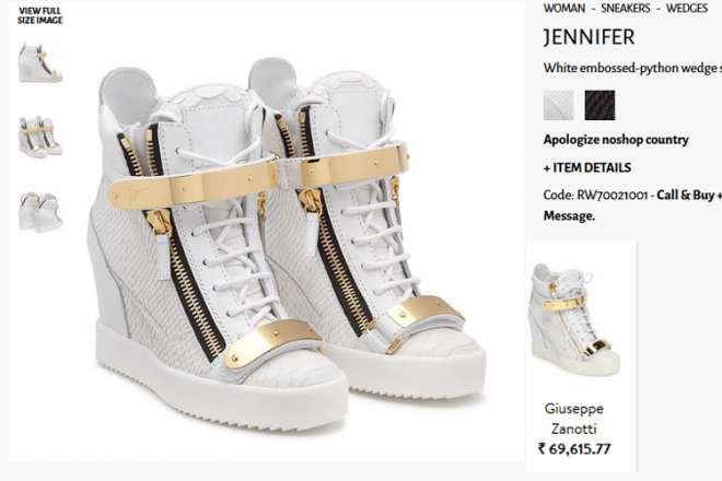 Suhana Khan shoes price