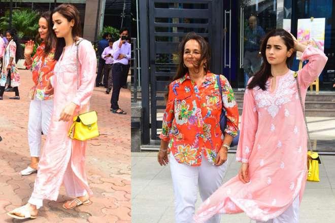 Alia Bhatt with mom