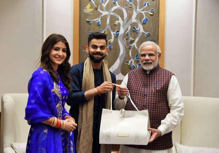 anushka kohli with modi