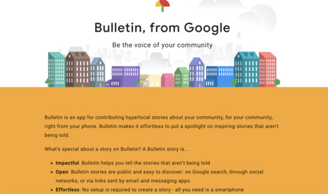 Google tests Bulletin app