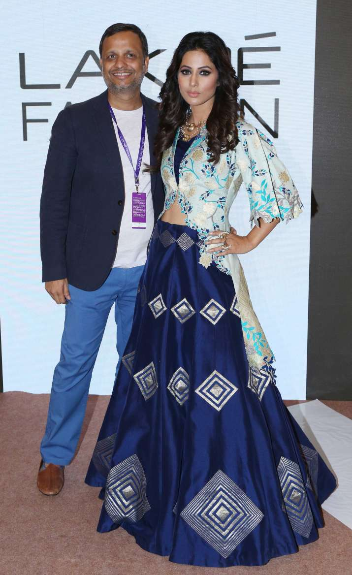 hina khan lakme fashion week 2018