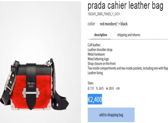 alia prada bag price