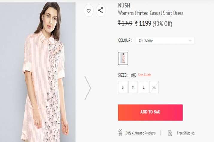 Anushka nush brand dress