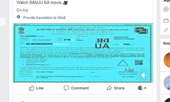 Sanju Full Movie Online Leak