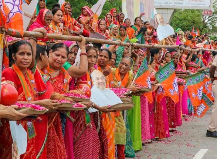भाजपा कार्यकर्ता (फोटो पीटीआई)