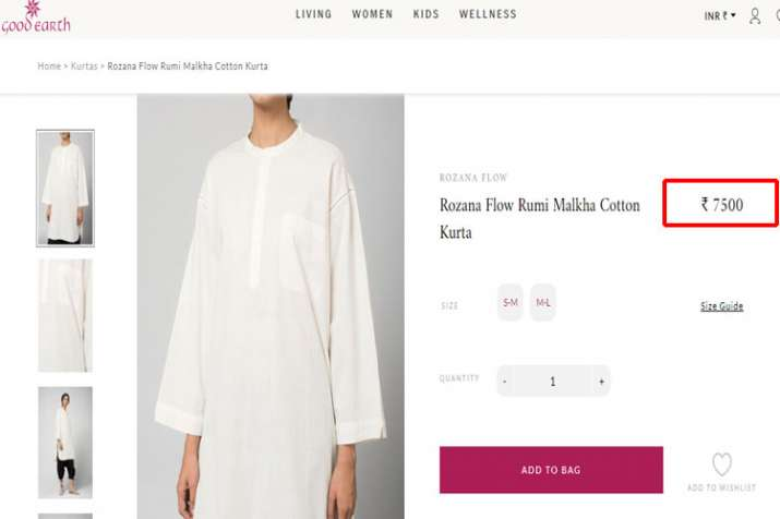 Good Earth white Kurta