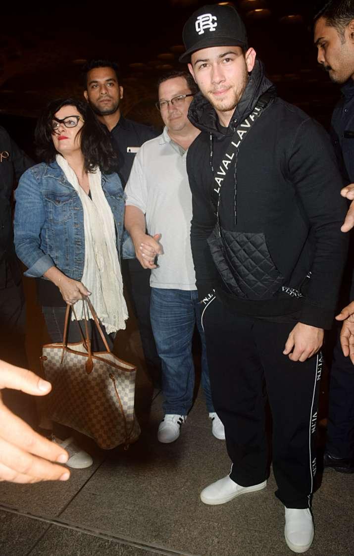 Nick Jonas with family