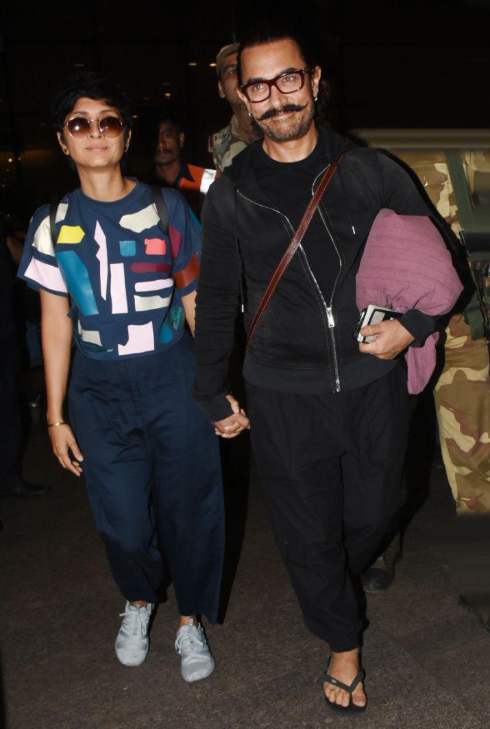 Kiran Rao walks hand-in-hand with Aamir Khan