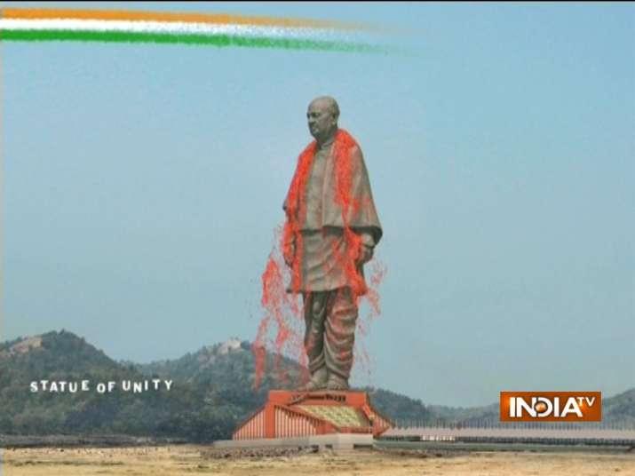 पीएम मोदी ने स्टैचू आॅफ यूनिटी देश को सर्मपित किया