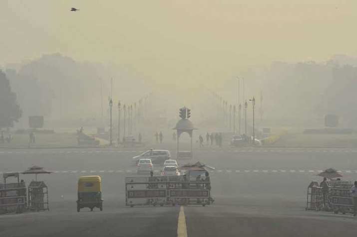Delhi's air quality continued to remain in the very poor category today as a thick haze engulfed the city which is battling alarming levels of pollution