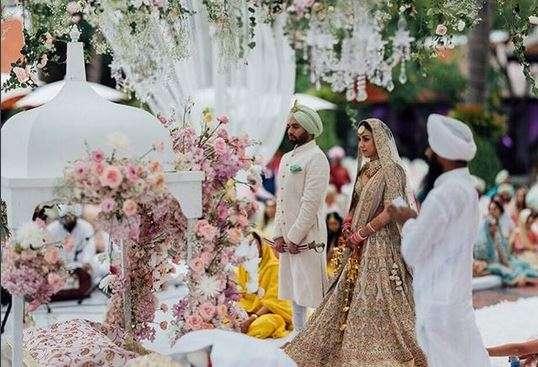 Amrita Puri with husband