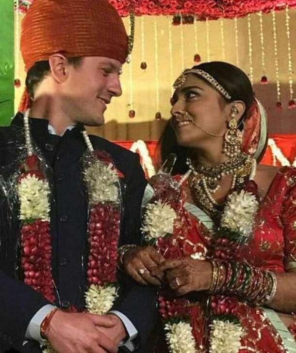 Shriya Saran with husband